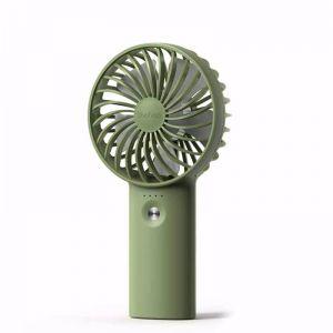 Yoobao Rechargeable 2 in1 Portable USB High Capacity Mini Fan & Power Bank- Green