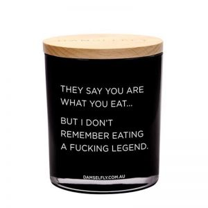 You Are What You Eat   XL Candle   by Damselfly