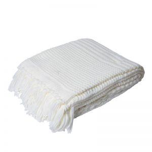Yukon Chunky Knitted Throw Rug | Ivory