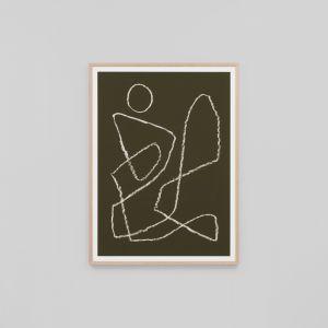 Yves Khaki 2 | Framed Art Print