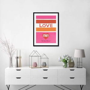 Yves Saint Laurent Love 1989 | Unframed Art Print