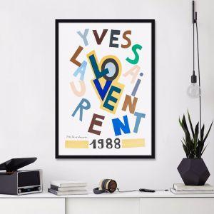 Yves Saint Laurent Love | Unframed Art Print