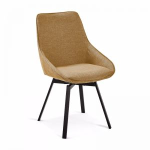 Zaki Swivel Dining Chair | Mustard | CLU Living