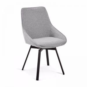 Zaki Swivel Dining Chair | Taupe | CLU Living