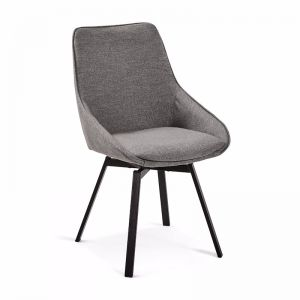 Zaki Swivel Dining Chair | Titanium Grey | CLU Living