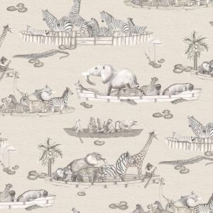 Zambezi Animals Wallpaper - Grey