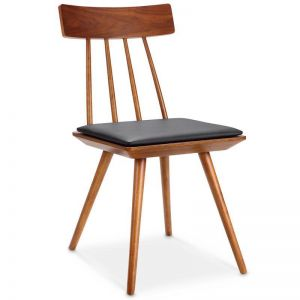 Zana Dining Chair | Black + Cherry Walnut | Modern Furniture