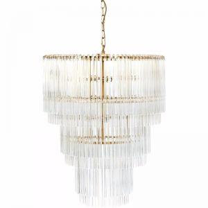 Zara Pendant   3 Tier Brass