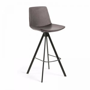 Zast Barstool | Dark Brown | Synthetic Leather