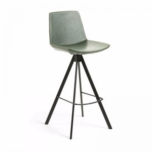 Zast Barstool | Green | Synthetic Leather