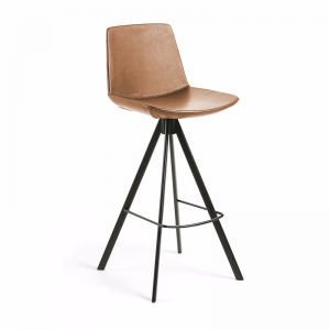 Zast Barstool | Rust Brown | Synthetic Leather