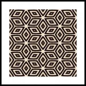Zebra #1 | Framed Art Print | 85x85cm | by Artscope