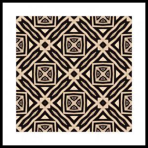 Zebra #2 | Framed Art Print | 85x85cm | by Artscope