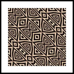 Zebra #3 | Framed Art Print | 85x85cm | by Artscope