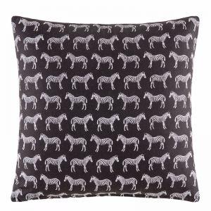 Zebra Cushion by Kas Australia | Black