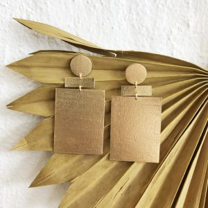 Zev Earrings Gold l Pre Order