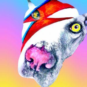 Ziggy Dog | Art Metallic Print