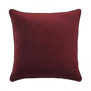 Zoe Velvet Cushion - Beetroot | by Weave Home