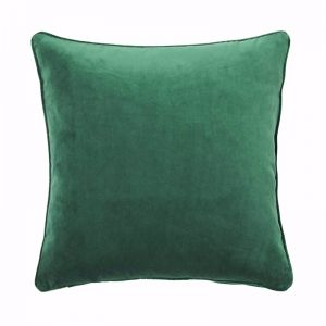 Zoe Velvet Cushion - Forest Green