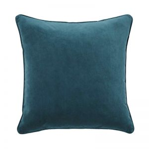 Zoe Velvet Cushion - Mallard | by Weave Home