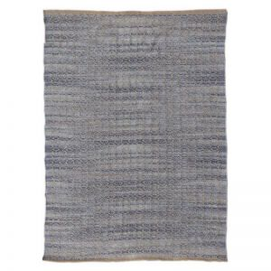 Zola Polo Blue | Handwoven Flat Weave Rug | Various Sizes