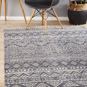 Zulma Cotton Rug |  Charcoal