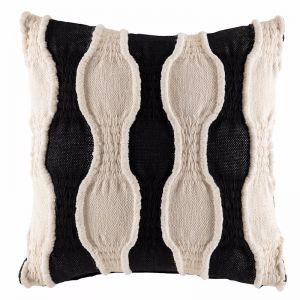 Zulu Cushion by Kas Australia | Black/Natural