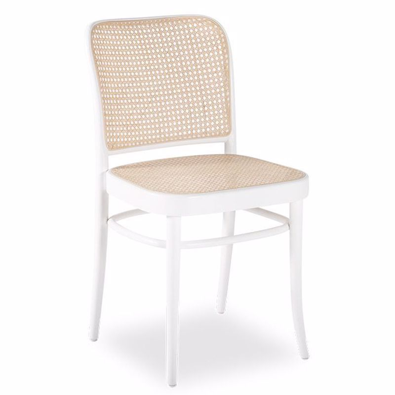811 Hoffmann White Dining Chair With, White Side Chair