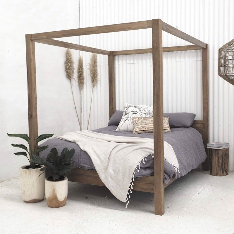 Aren Canopy Bed Custom Made
