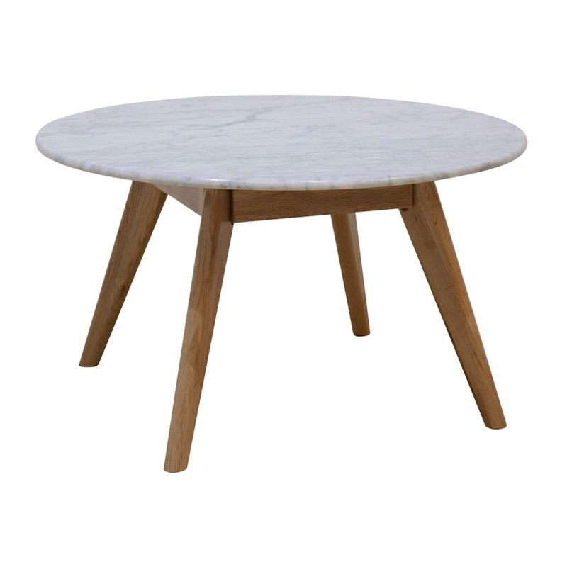 Oia White Marble Coffee Table