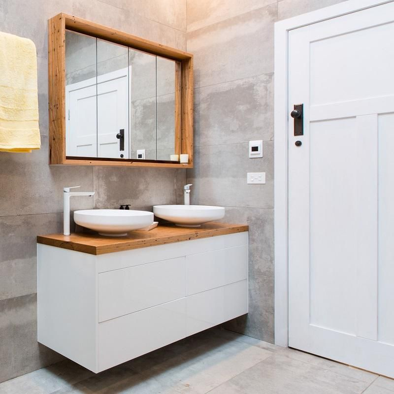 Recycled Timber Top Vanity Bench, Bathroom Top Vanity