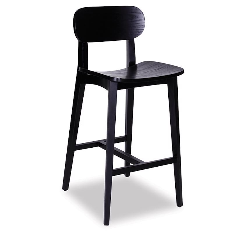Fantastic Saki Kitchen Bar Stool Black Stained Ash Spiritservingveterans Wood Chair Design Ideas Spiritservingveteransorg