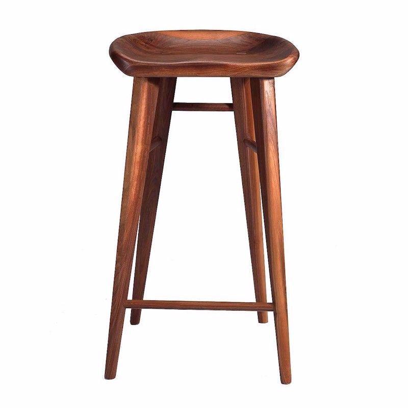Surprising Taburet Bar Stool Walnut Pabps2019 Chair Design Images Pabps2019Com