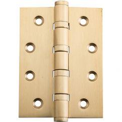 10x7.5cm Ball Bearing Hinge, Satin Brass | Schots