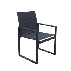 2 Redcliffe Aluminium Outdoor Dining Chairs | Charcoal