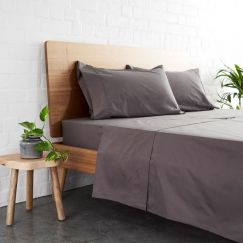 225TC Bamboo Cotton Sheet Set | Charcoal | Jamie Durie By Ardor