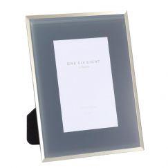6 x 4 Glass Photo Frame | Grey | One Six Eight London