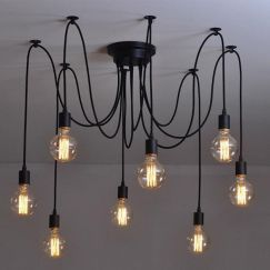 8 Heads Thomas Edison Bulb Chandelier Pendant Light