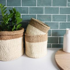African Baskets | Cream & Natural | by Collective Sol
