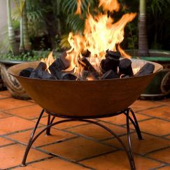 African Cast Iron Fire Pit or Planter Bowl by Aussie Heatwave Outdoor Fireplaces