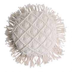 Airlie Round Cushion | Natural | BY SEA TRIBE
