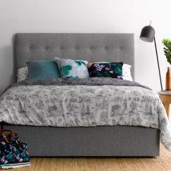 Alex's light grey bedhead   by Billy's Beds