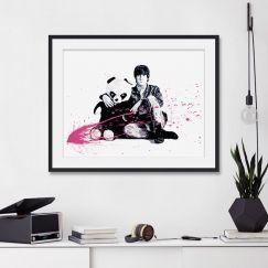 All You Need Is Love John Lennon & Panda | Unframed Art Print