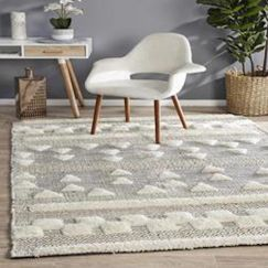 Almore Tufts | Wool Ivory Charcoal Rug
