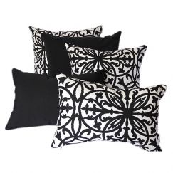 Amalfi Black | Sunbrella Fade and Water Resistant Outdoor Cushion