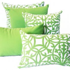 Amalfi Lime   Sunbrella Fade and Water Resistant Outdoor Cushion