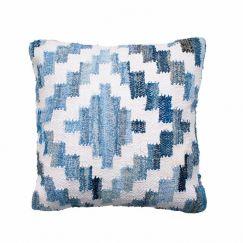 Ananya Denim & White Square Cushion