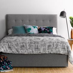 Andy's light grey bedhead   by Billy's Beds