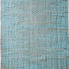 Aqua Natural Braided Jute Rug