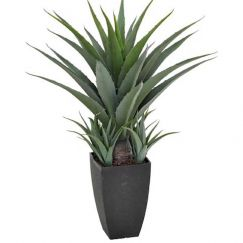 Artificial Agave in Black Pot | 73cm